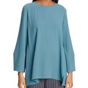 Eileen Fisher silk georgette crepe top blouse A67